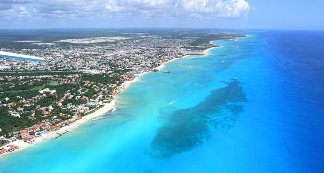 Merry Christmas to me! Aerial view of Playa del Carmen | Hotel Cielo